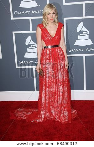 Natasha Bedingfield at the 55th Annual GRAMMY Awards, Staples Center, Los Angeles, CA 02-10-13