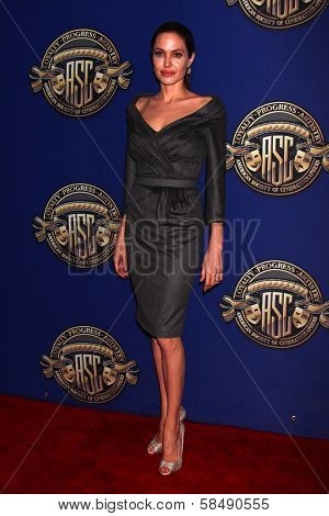 Angelina Jolie at the American Society of Cinematographers 27th Annual Outstanding Achievement Awards, Hollywood & Highland Grand Ballroom, Hollywood, CA 02-10-13