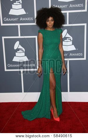Solange Knowles at the 55th Annual GRAMMY Awards, Staples Center, Los Angeles, CA 02-10-13