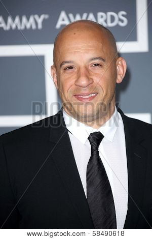 Vin Diesel at the 55th Annual GRAMMY Awards, Staples Center, Los Angeles, CA 02-10-13