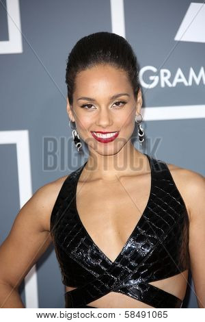 Alicia Keys at the 55th Annual GRAMMY Awards, Staples Center, Los Angeles, CA 02-10-13