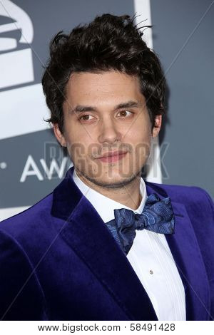 John Mayer at the 55th Annual GRAMMY Awards, Staples Center, Los Angeles, CA 02-10-13