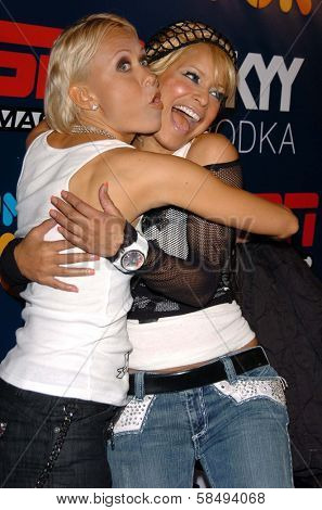 HOLLYWOOD - JULY 11: Oksana Baiul and Blu Cantrell at ESPN The Magazine's
