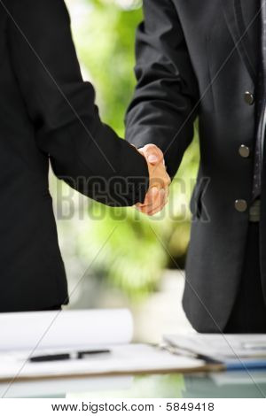Two Businessman Handshake
