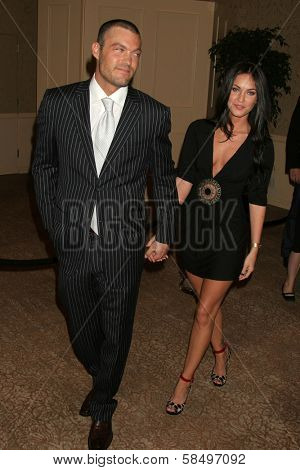 BEVERLY HILLS - NOVEMBER 03: Brian Austin Green and Megan Fox at the