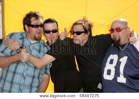HOLLYWOOD - NOVEMBER 05: Bowling For Soup at Bogart Backstage 2006 Children's Choice Awards at Palladium November 05, 2006 in Hollywood, CA