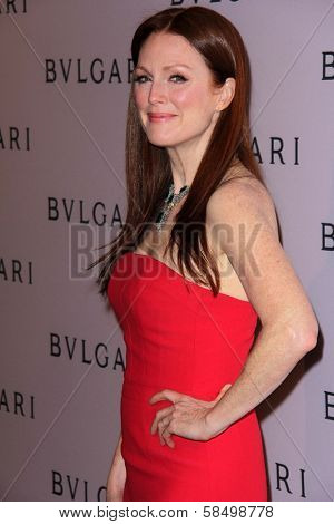 Julianne Moore at the Elizabeth Taylor Bvlgari Jewelry Collection Unveiling, Bvlgari Beverly Hills, CA 02-19-13