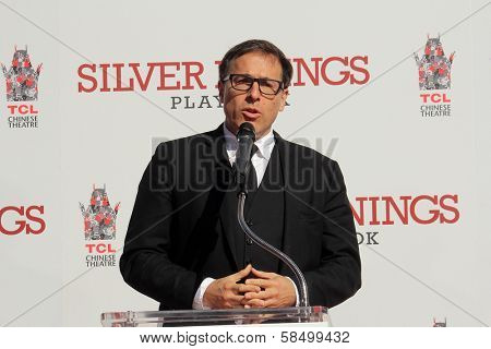 David O. Russell at the Robert De Niro Hand and Foot Print Ceremony, Chinese Theater, Hollywood, CA 02-04-13