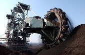 pic of collier  - Surface coal digging with large rotating blades excavators  - JPG