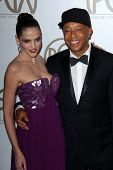 Hana Nitsche, Russell Simmons at the 24th Annual Producers Guild Awards, Beverly Hilton, Beverly Hil
