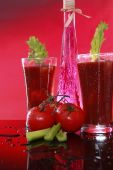 foto of bloody mary  - Bloody Mary or tomato cocktail with celery - JPG