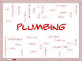 stock photo of nipple rings  - Plumbing Word Cloud Concept on a Whiteboard with great terms such as pipes fitting plumber and more - JPG