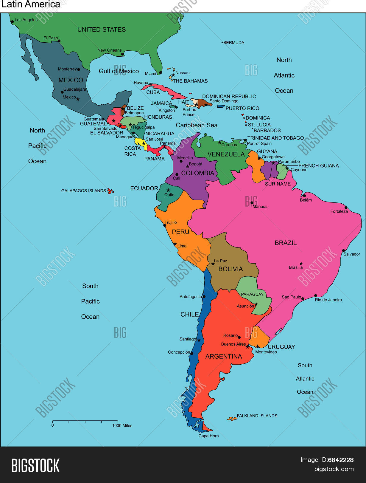 Map Of Countries In Latin America 28