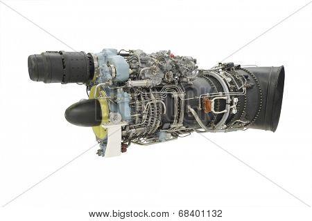 turbo jet engine under the white background