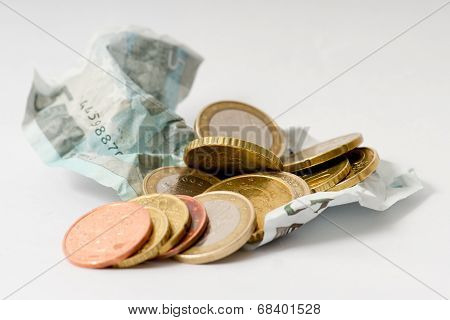 Euro Money (5 Euro Note And Coins)