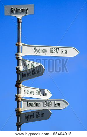 Grimsey Signpost, Iceland