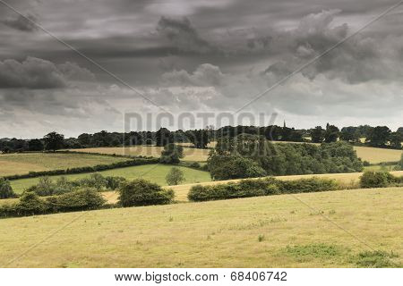 Storm Clouds over Farmland
