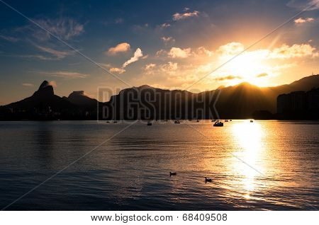 Beautiful Rio de Janeiro Sunset