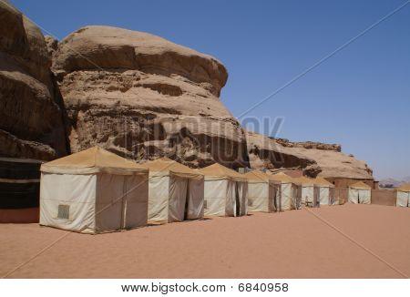 Bedouin Camp In The Desert (wadi Rum, Jordan)
