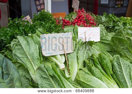 Lettuce on a market