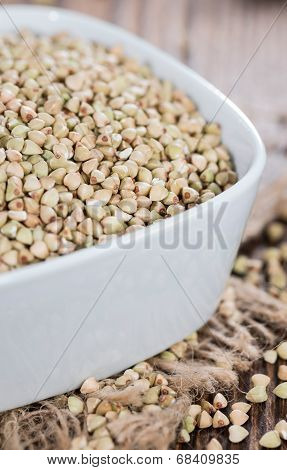 Portion Of Buckwheat In A Bowl