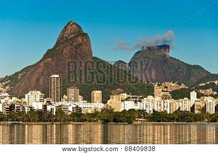 Rio de Janeiro Lake and Mountains