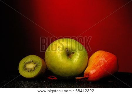 Fruits With Water Drops On Them