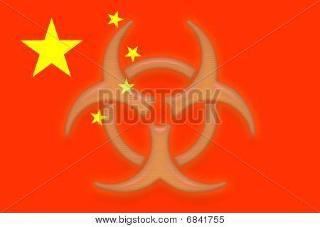 China Flag Health Warning