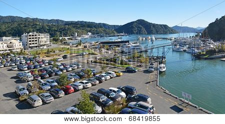 Panorama Of Picton Town And Marina On An Autumn Morning.