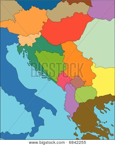 Former Yugoslavia with Countries