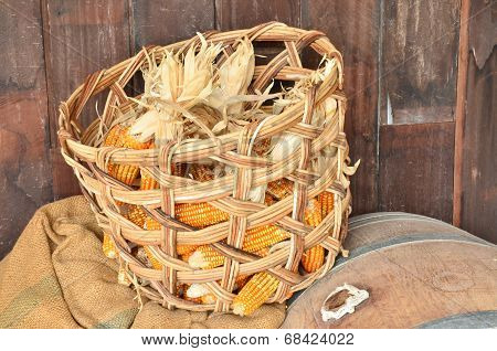 Toast Sweet Corn With The Husks Still On In The Basket