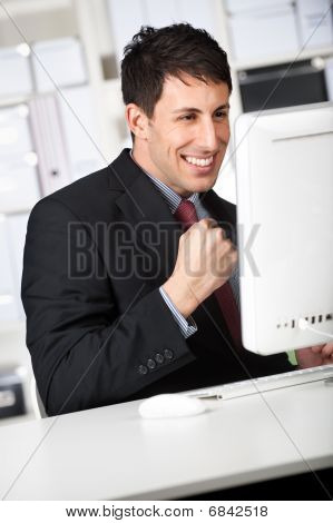 Businessman With Good News