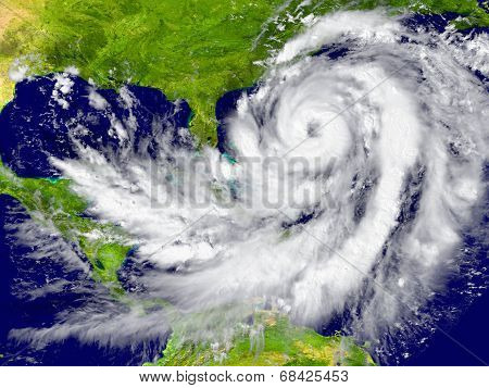 Hurricane Between Florida And Cuba poster