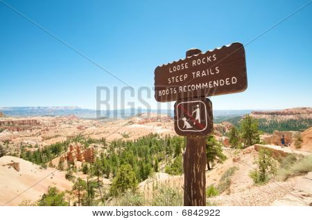 Wooden Hiking Sign