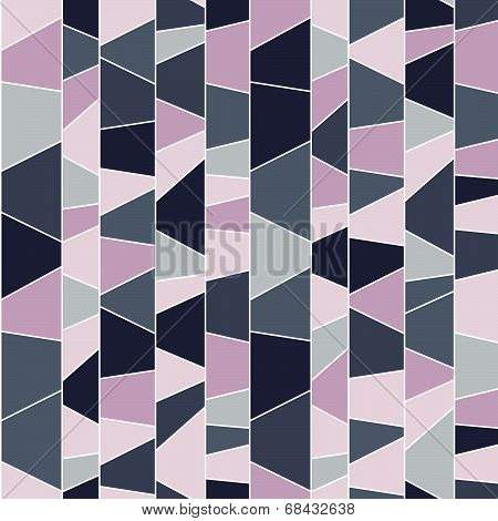 Abstract mosaic pattern. Seamless vector. Puzzle background