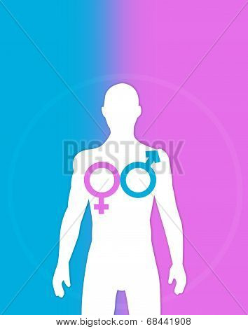 Transgender and Homosexual concept. Trans Surgery idea.