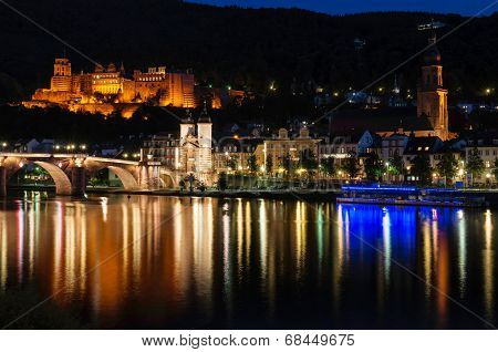 Heidelberg city night