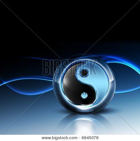 3D Yin Yang Symbol