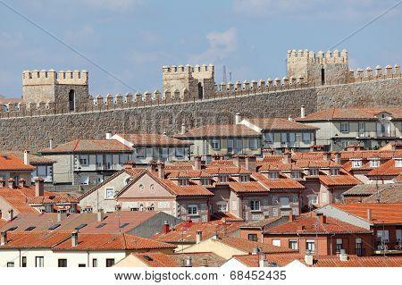 The Old Town Of Avila, Spain