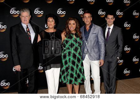 LOS ANGELES - JUL 15:  Sam McMurray, Terri Hoyos, Cristela Alonzo, Carlos Ponce, Andrew Leeds at the ABC July 2014 TCA at Beverly Hilton on July 15, 2014 in Beverly Hills, CA