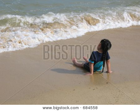 Young Girl At Beach