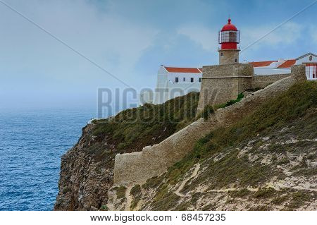 Lighthouse Of Cap San Vicente, Sagres, Portugal