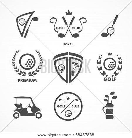 Golf sign and symbols