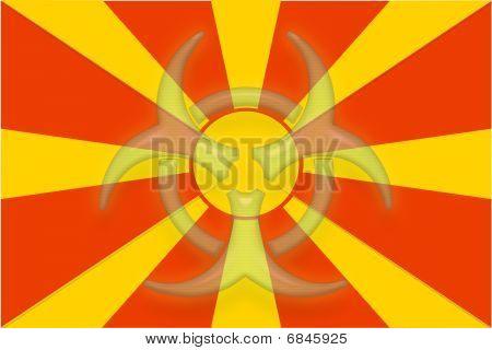 Flag Of Macedonia Health Warning