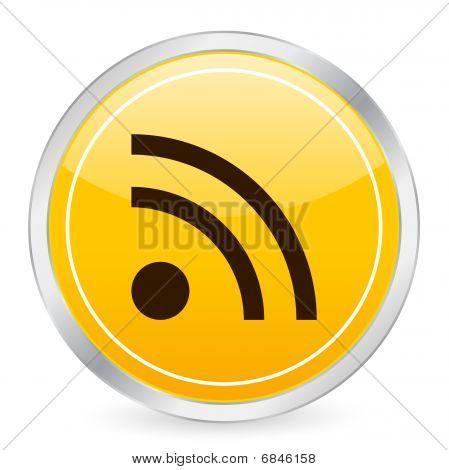 Rss Symbol Yellow Circle Icon