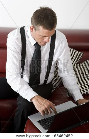 Businessman With Labtop