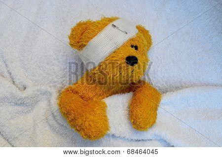 ill Teddy bear