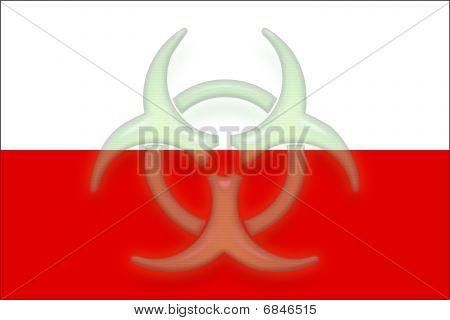 Flag Of Poland Health Warning