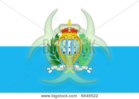 Flag Of San Marino Health Warning