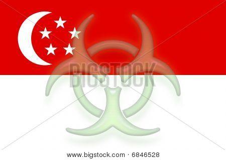 Flag Of Singapore Health Warning